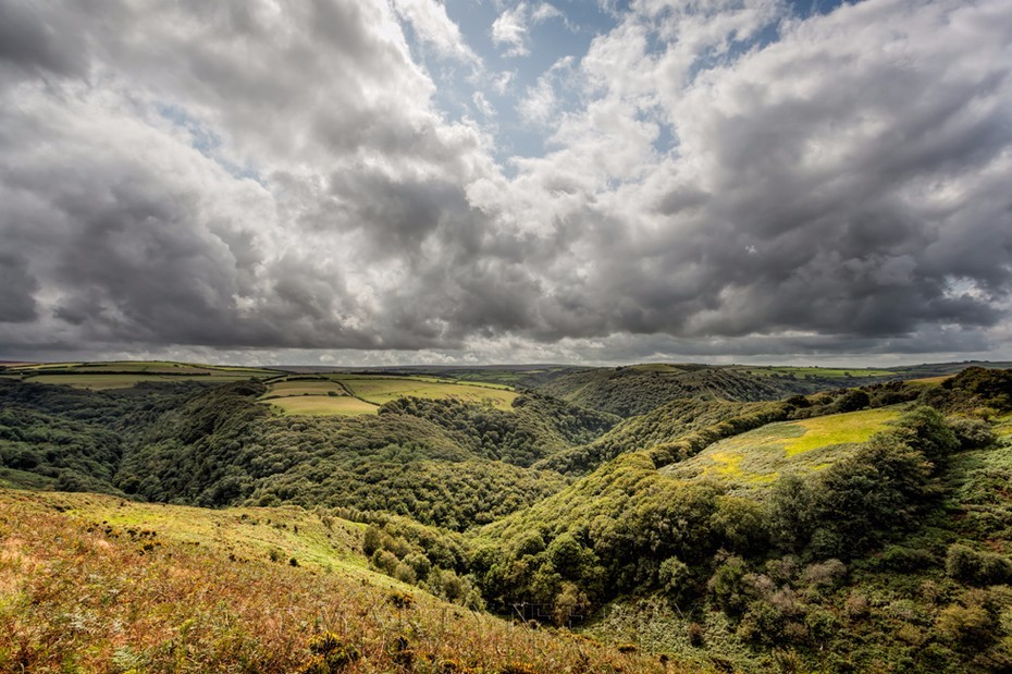 Breathtaking scenery of the East Lyn Valley in Exmoor National Park