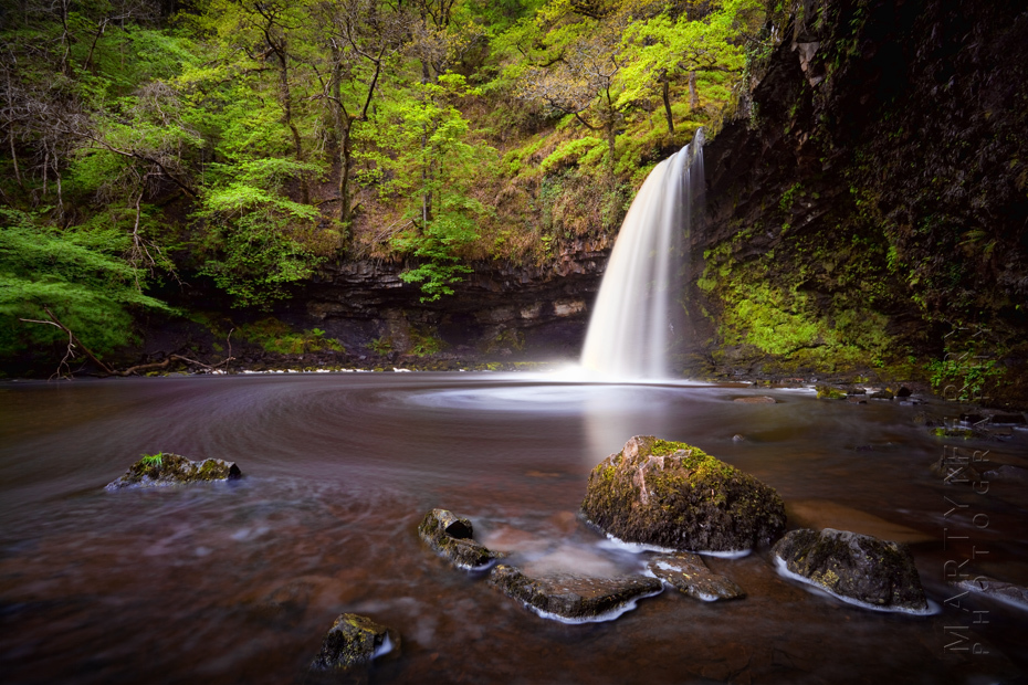 Beautiful waterfall photograph from Wales