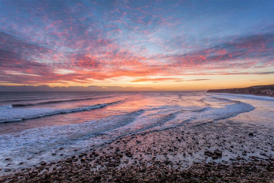 North east coast sunrise at Seaham
