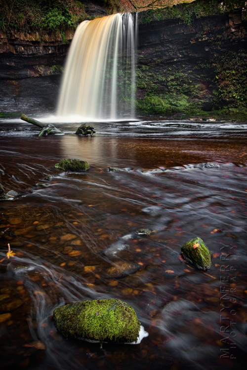 Lady Falls in full flow in this waterfall image