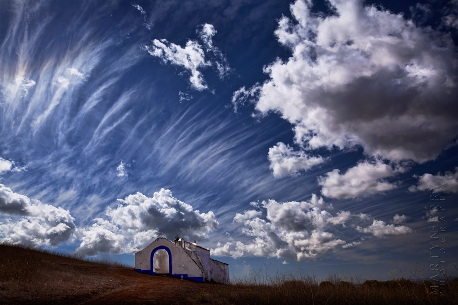 Santiago chapel with beautiful sky