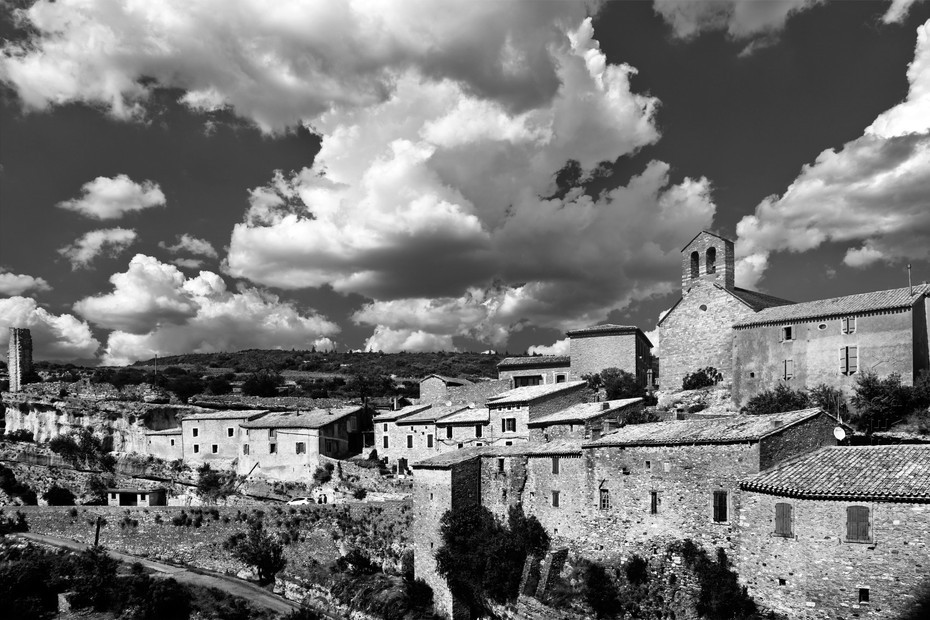 Stunning view of Minerve under cloud formation