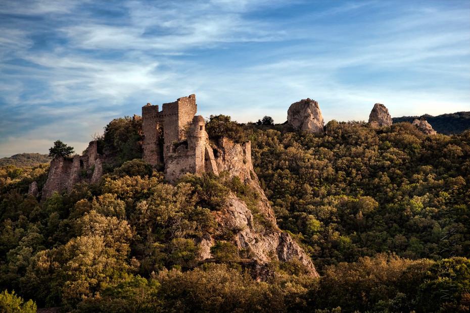Beautiful ruins of Chateau de Durfort