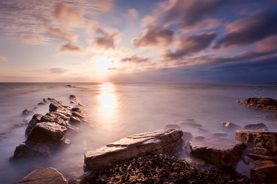 Spectacular sunrise image on the Dorset Heritage Coast