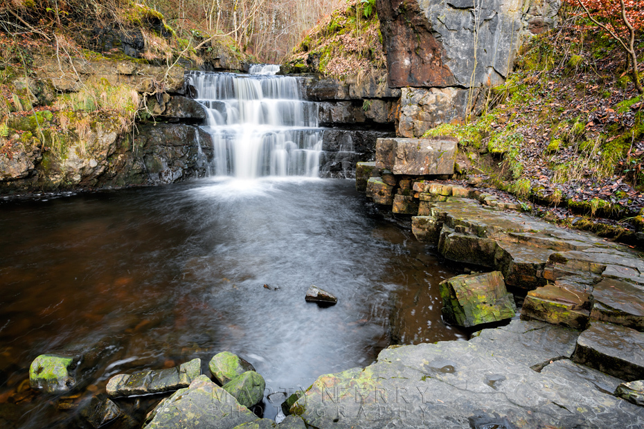 Waterfall on the Bow Lee Beck river in the Pennines