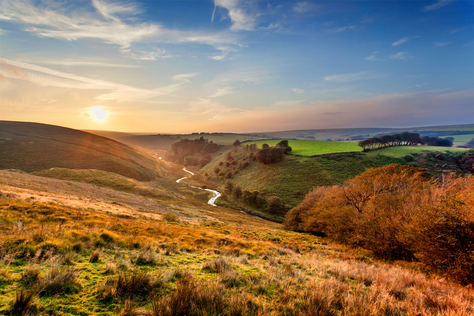 Stunning image of sunset over the Barle Valley