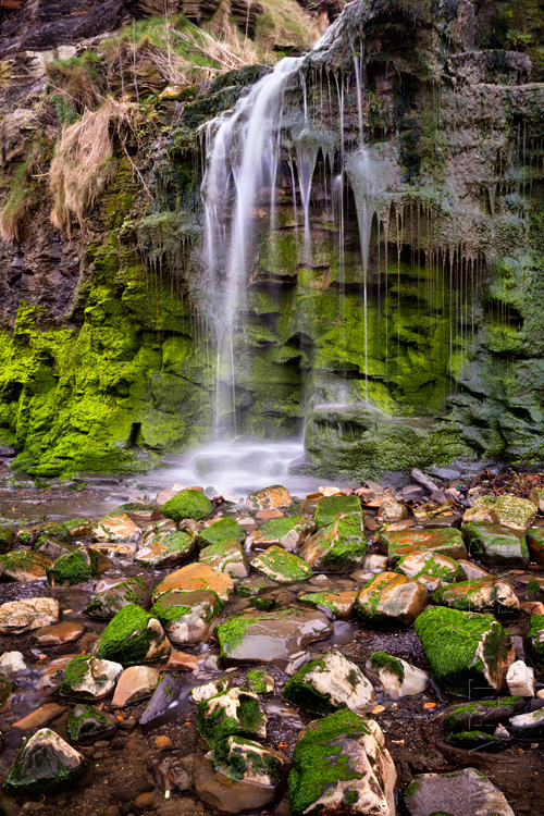 Small waterfall at Kimmeridge Bay in Dorset