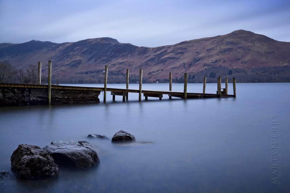 Subtle photograph of Derwentwater and jetty