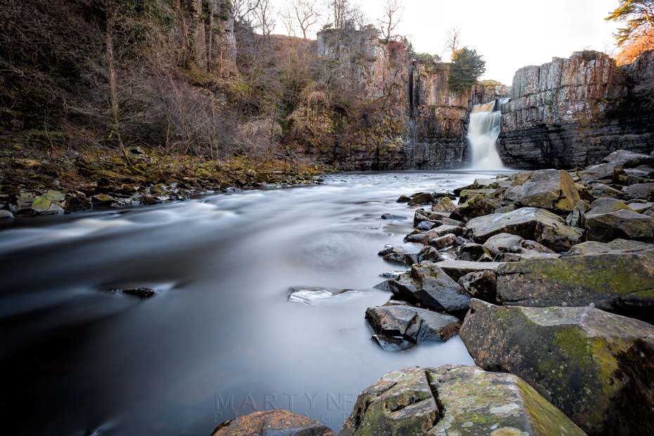 Long exposure of the River Tees at High Force waterfall