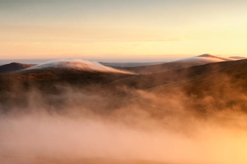 The Verandah through the mist - Isle of Man Landscapes
