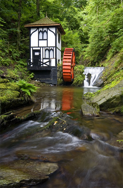 Groudle Glen Waterwheel - Manx National Glens