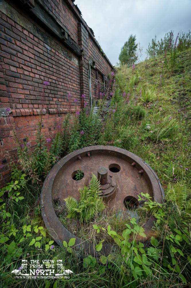 The abandoned Dunaskin Brickworks in Ayrshire, Scotland