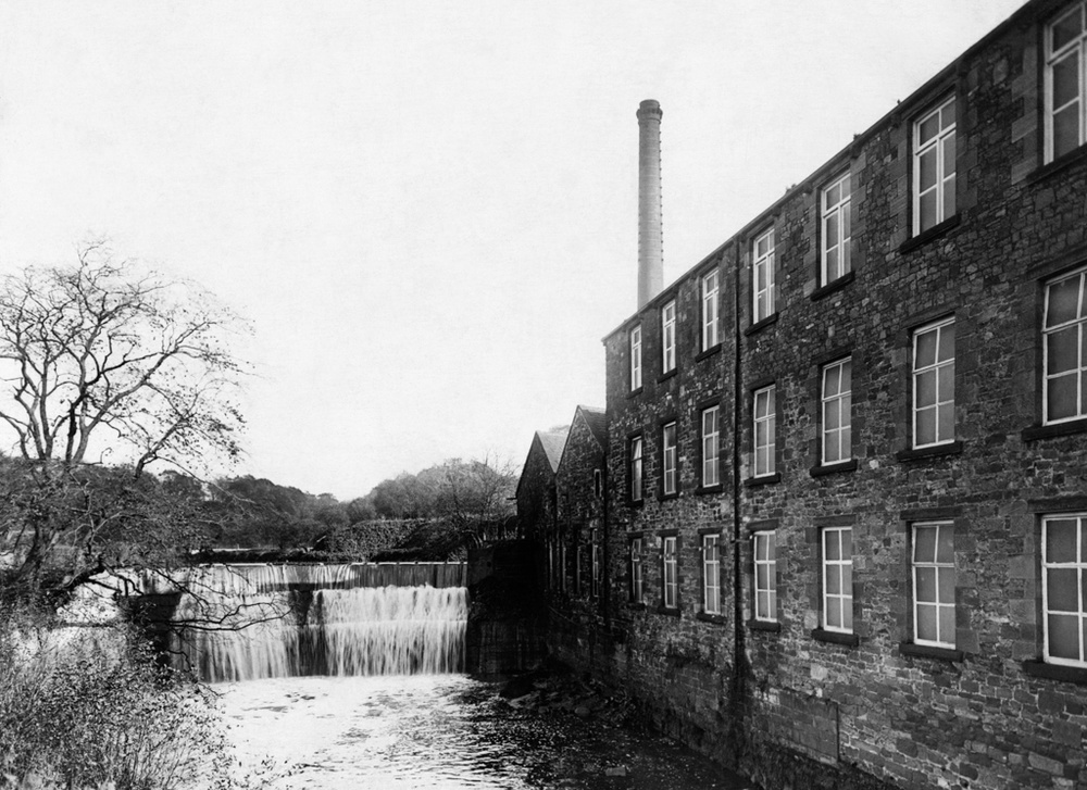 Old Photographs Of Roach Bridge Paper Mill Near Preston