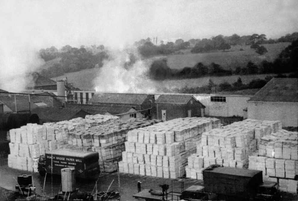 Old Photographs Of Roach Bridge Paper Mill Near Preston