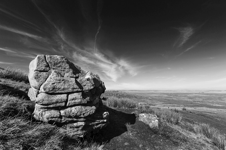 Tan Hill Rocks - Monochrome