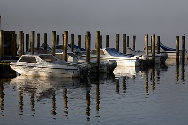 Boats in the Mist - Lake District