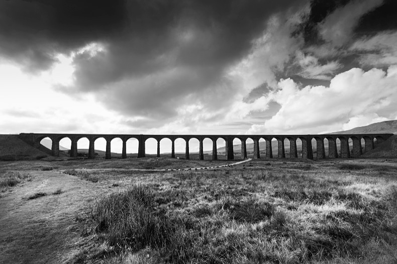 Ribblehead Viaduct 5 - Monochrome