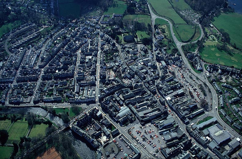 Keswick from the Air - Lake District