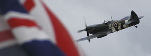 Spitfire and Union Flag - National Memorial Arboretum, Staffordshire, England