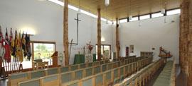 Chapel interior - National Memorial Arboretum, Staffordshire, England