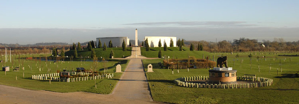 Armed Forces Panorama - National Memorial Arboretum, Staffordshire, England