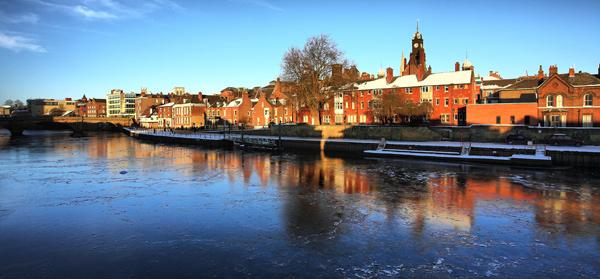 Frozen Ouse - York