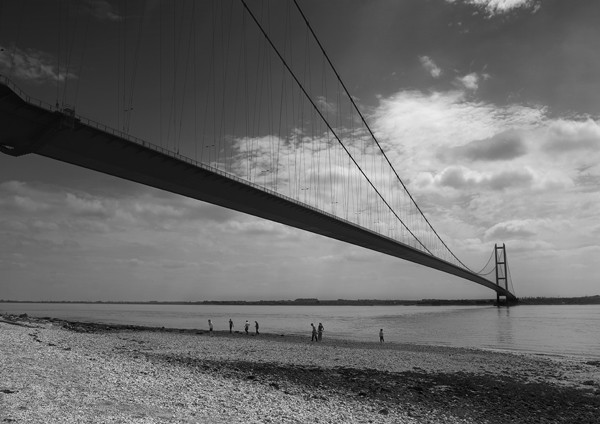 Humber Bridge - Black and White