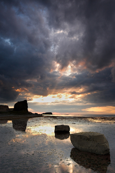 Saltwick Bay Sunset - Landscapes