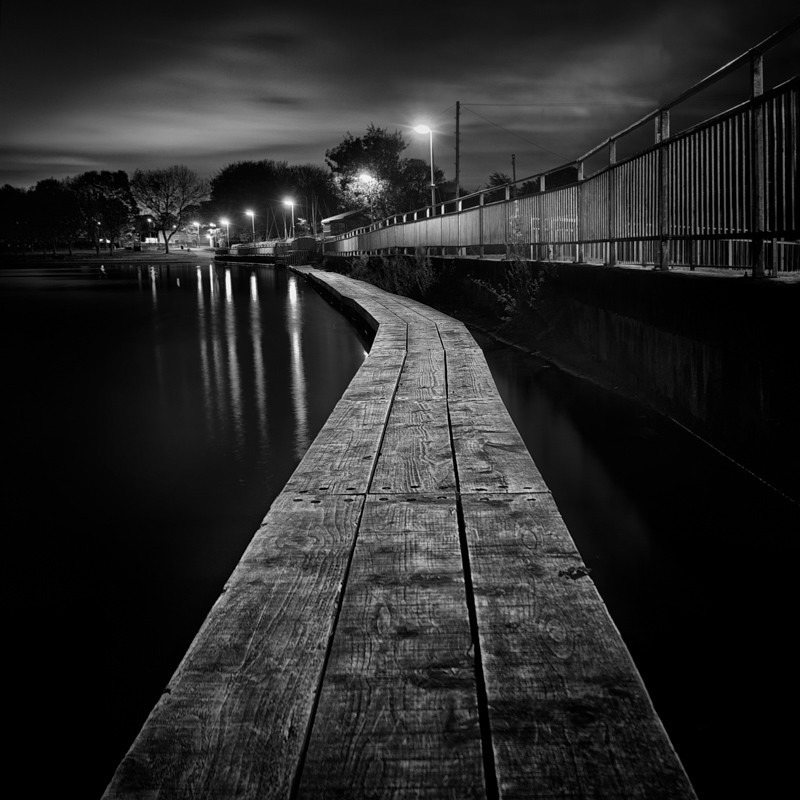 Run Board, Yeadon Tarn (square format) - Night Exposures