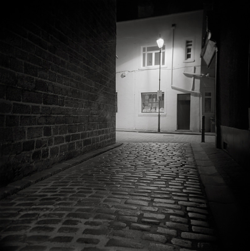 Black and White Photograph of New Market Otley by Martin Henson