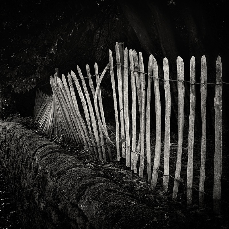 Photograph of Picket Fence Creskeld Lane in Black amd White - Abstract & Still Life