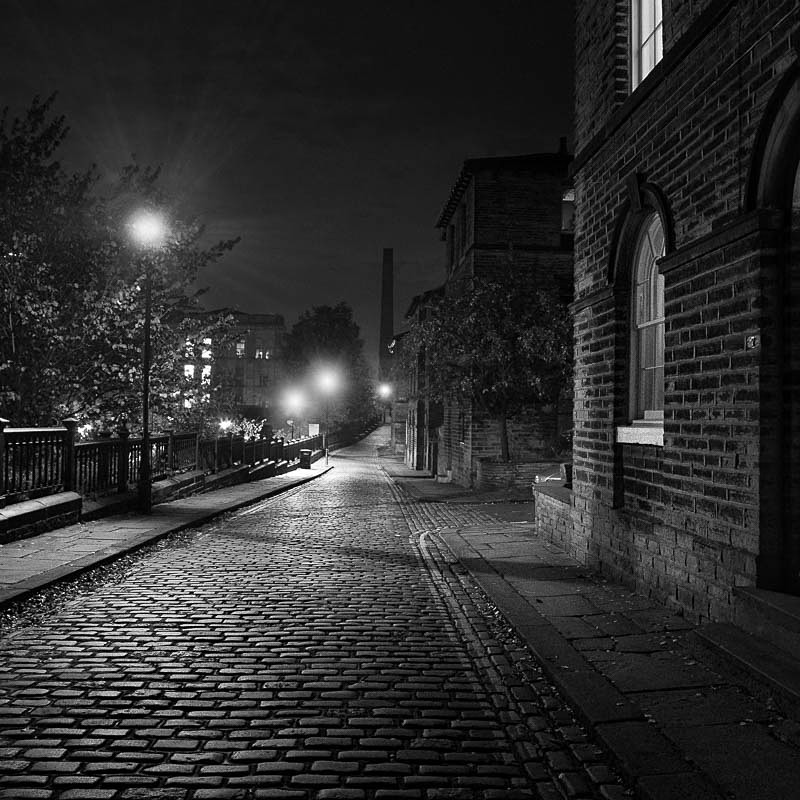 Salts Mill Street 2 (square format) - Night Exposures