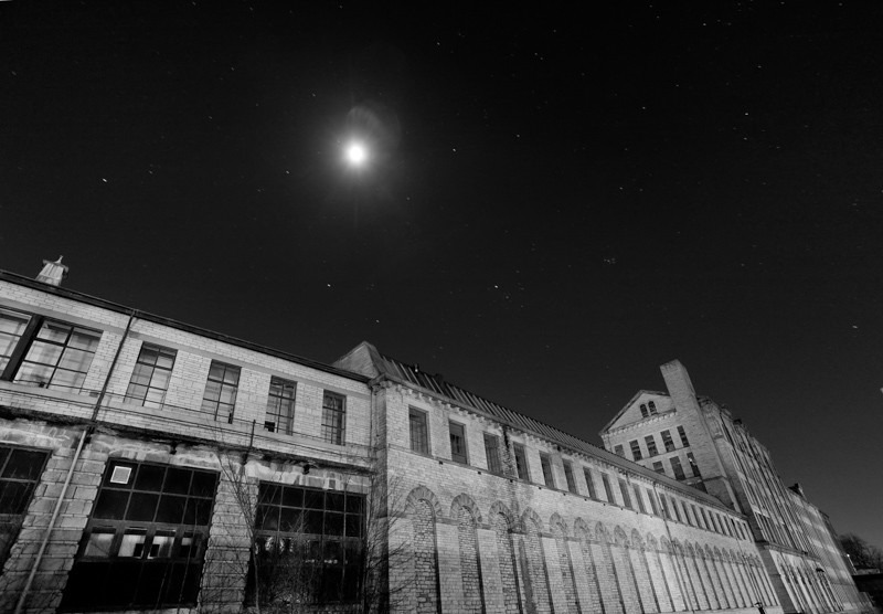 Moon and Mill - Night Exposures