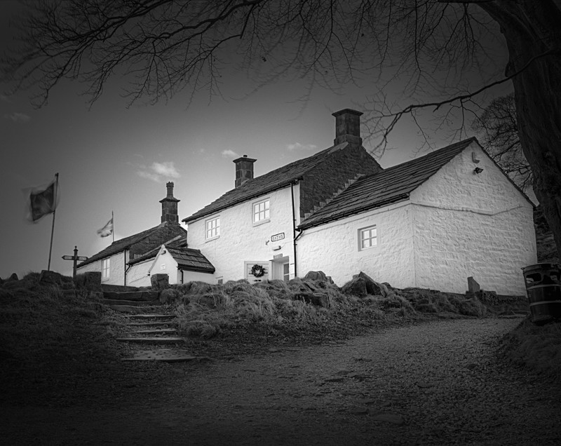 Black and White Photograph of White Wells Cottages Ilkley - Architecture