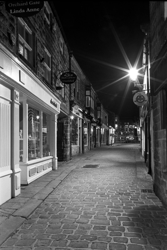 Market Street Otley - Otley and Ilkley at Night