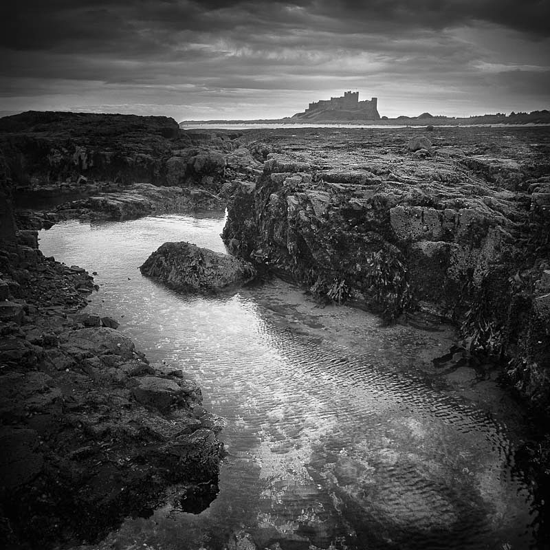Rock Pool, Bamburgh (square format) - Water