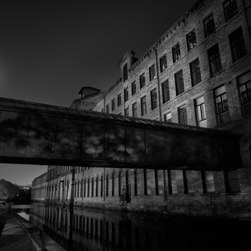 Salts Mill Crossing (square format) - Night Exposures