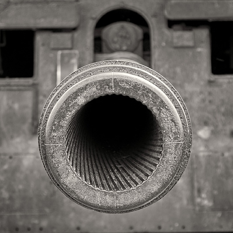 Gun Barrel Black & White Photograph Royal Armouries Museum Leeds - Abstract & Still Life