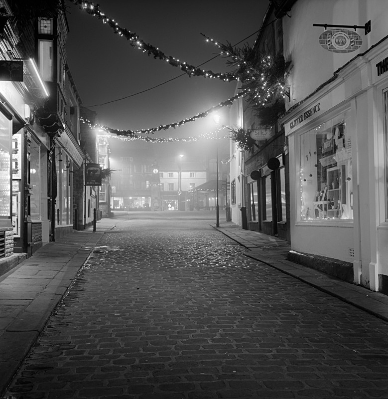 Market Street, Otley, Medium Format (square format) - Otley and Ilkley at Night