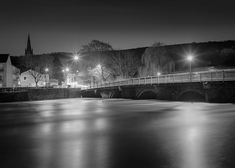 River Wharfe Otley #2 - Otley and Ilkley at Night
