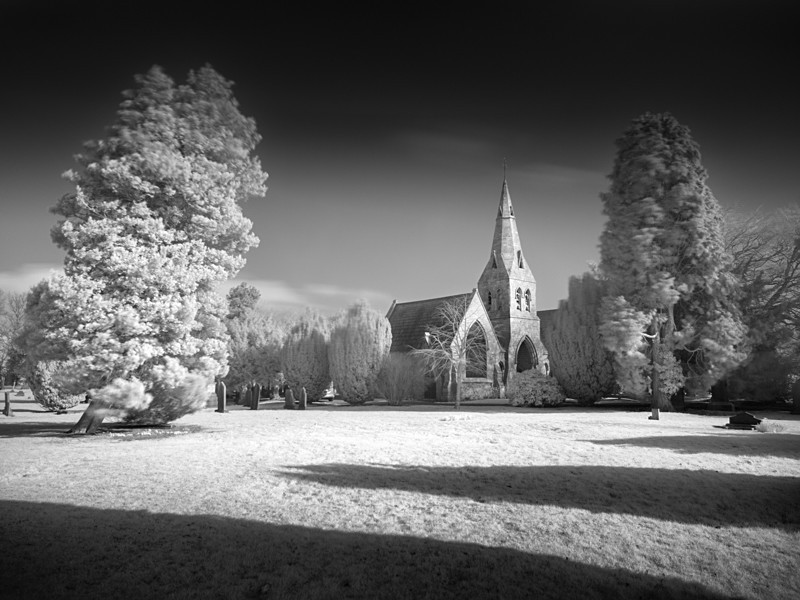 Otley Cemetery in Infrared #3 - Infrared