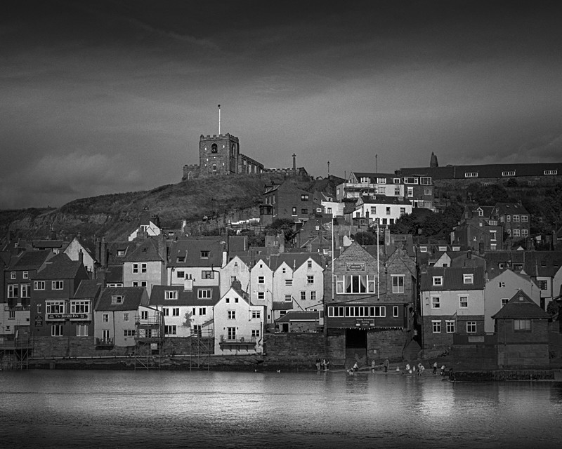 St Marys Church and Whitby Housess - Water