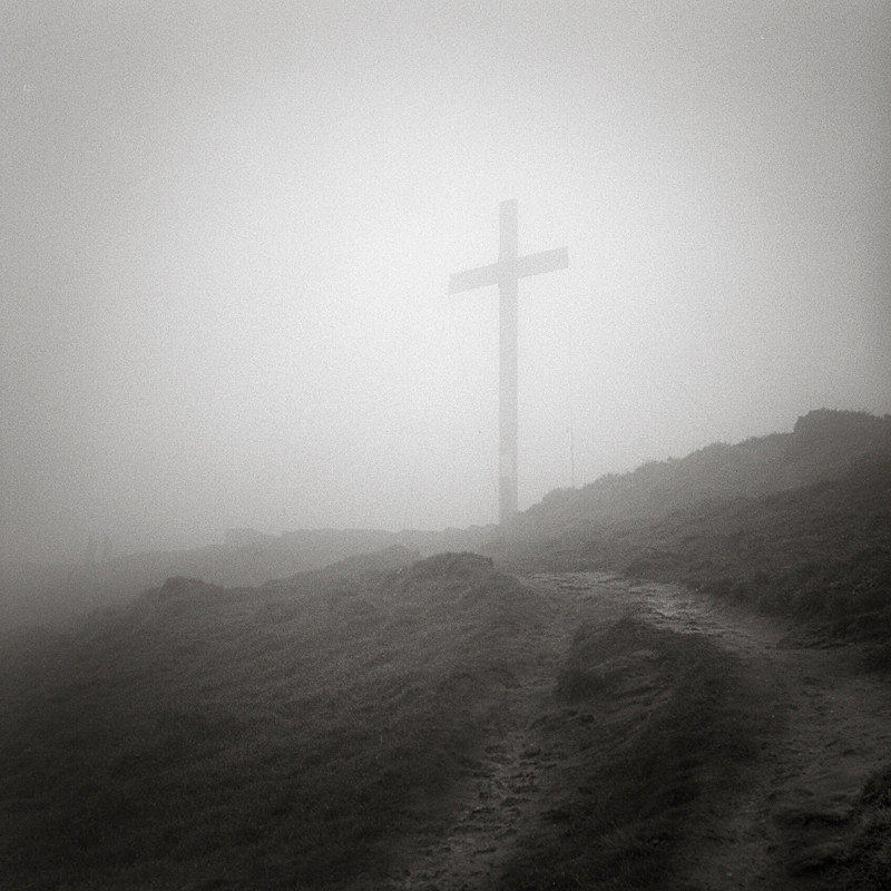 Chevin Easter Cross 2 (square format) - Landscapes