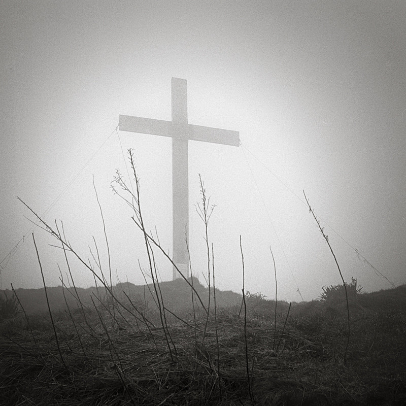 Chevin Easter Cross 1 (square format) - Landscapes