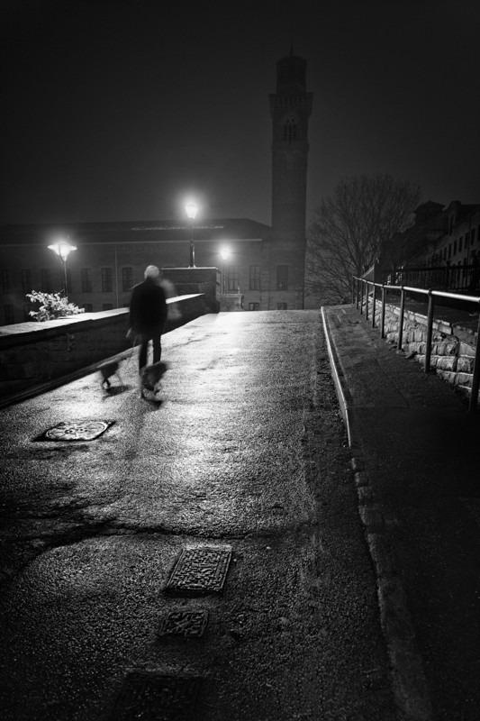 Salts Mill Bridge - Night Exposures