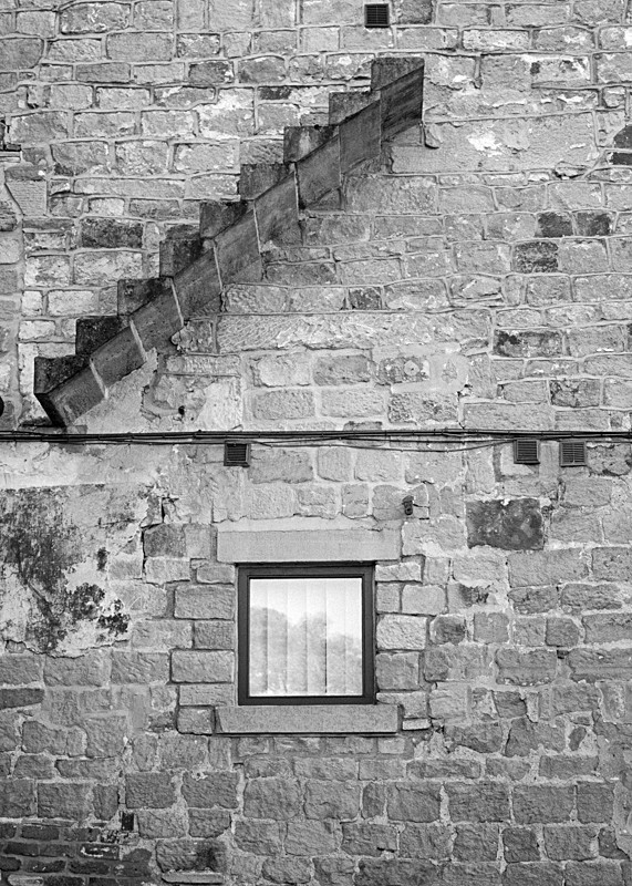 Black and White Abstract Ackroyd's Mill Otley - Abstract & Still Life