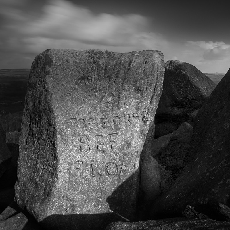 Old Rocks of Ilkley Moor #2 (square format) - Landscapes