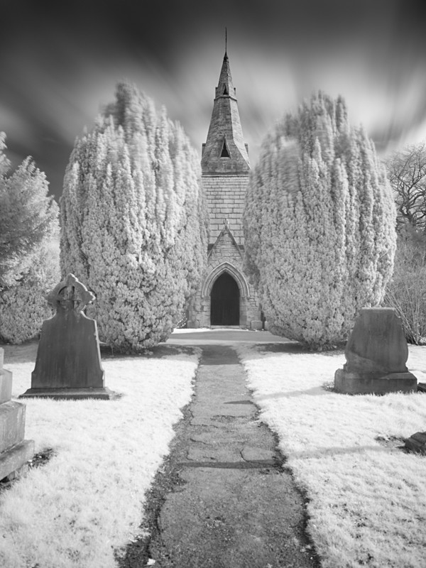 Otley Cemetery in Infrared #1 - Infrared