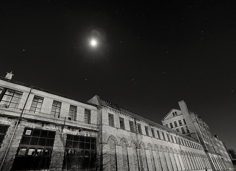 Moon Light over Salts Mill