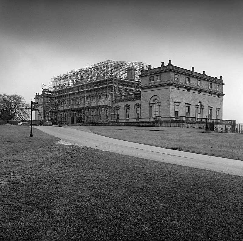 New Roof work, Harewood House (square format) - Architecture